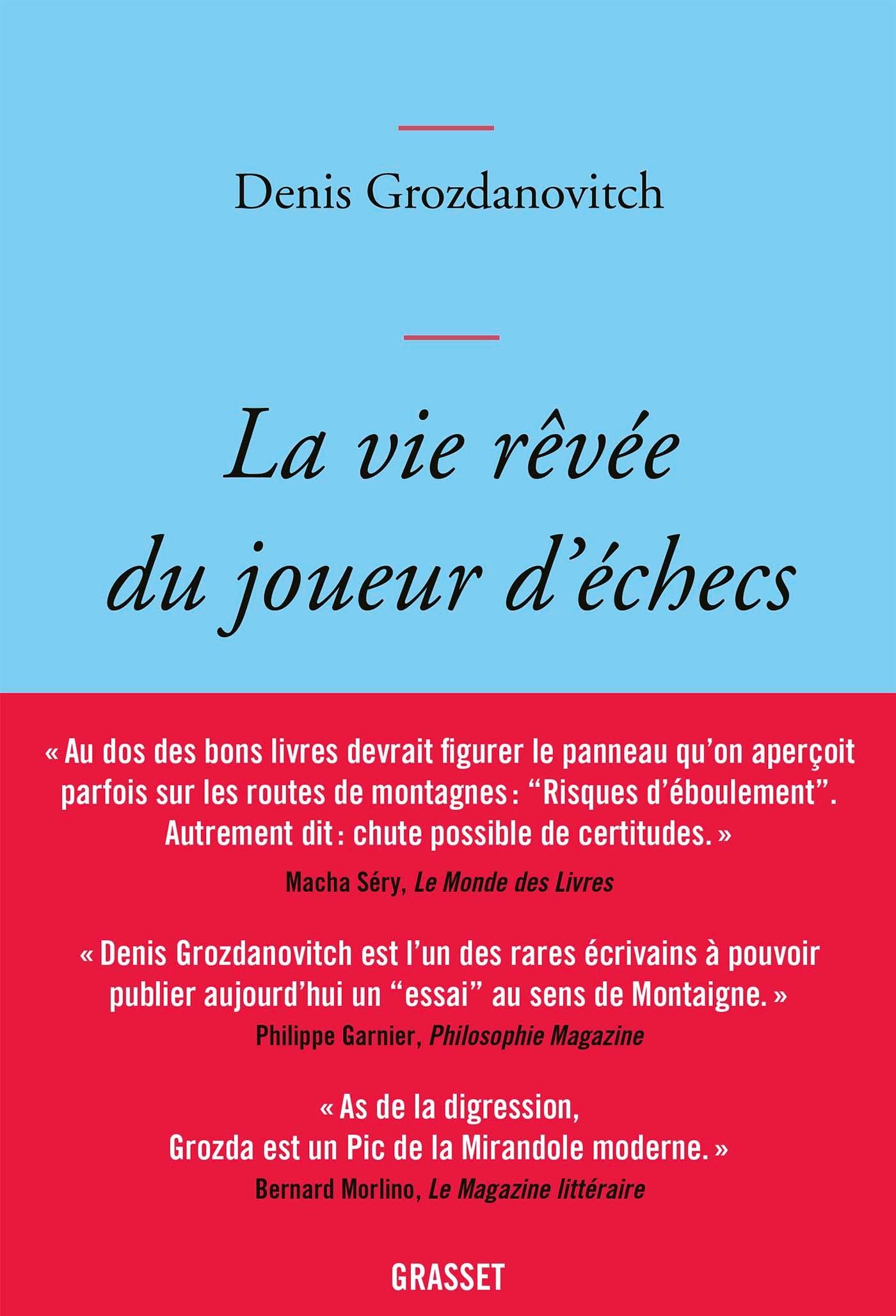 LA VIE REVEE DU JOUEUR D'ECHECS - ESSAI LITTERAIRE