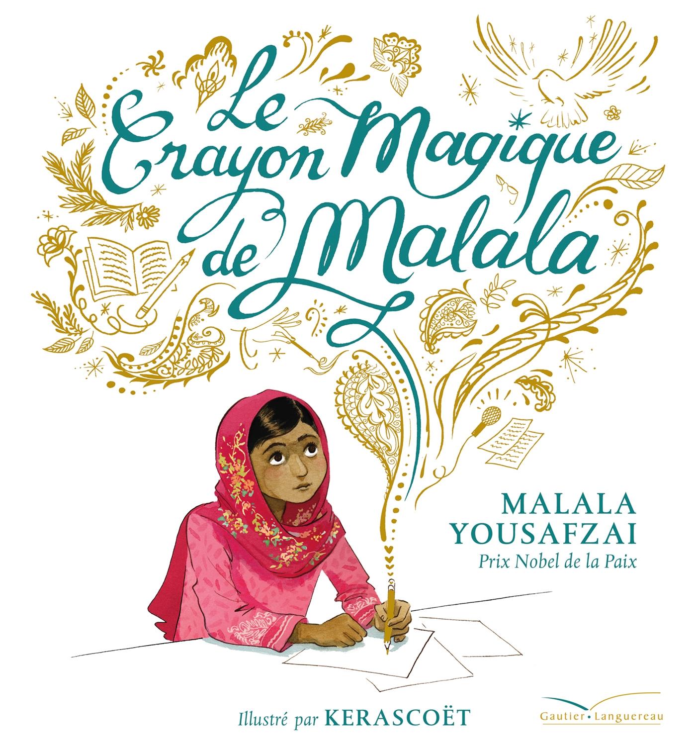 Image de couverture (Le crayon magique de Malala)