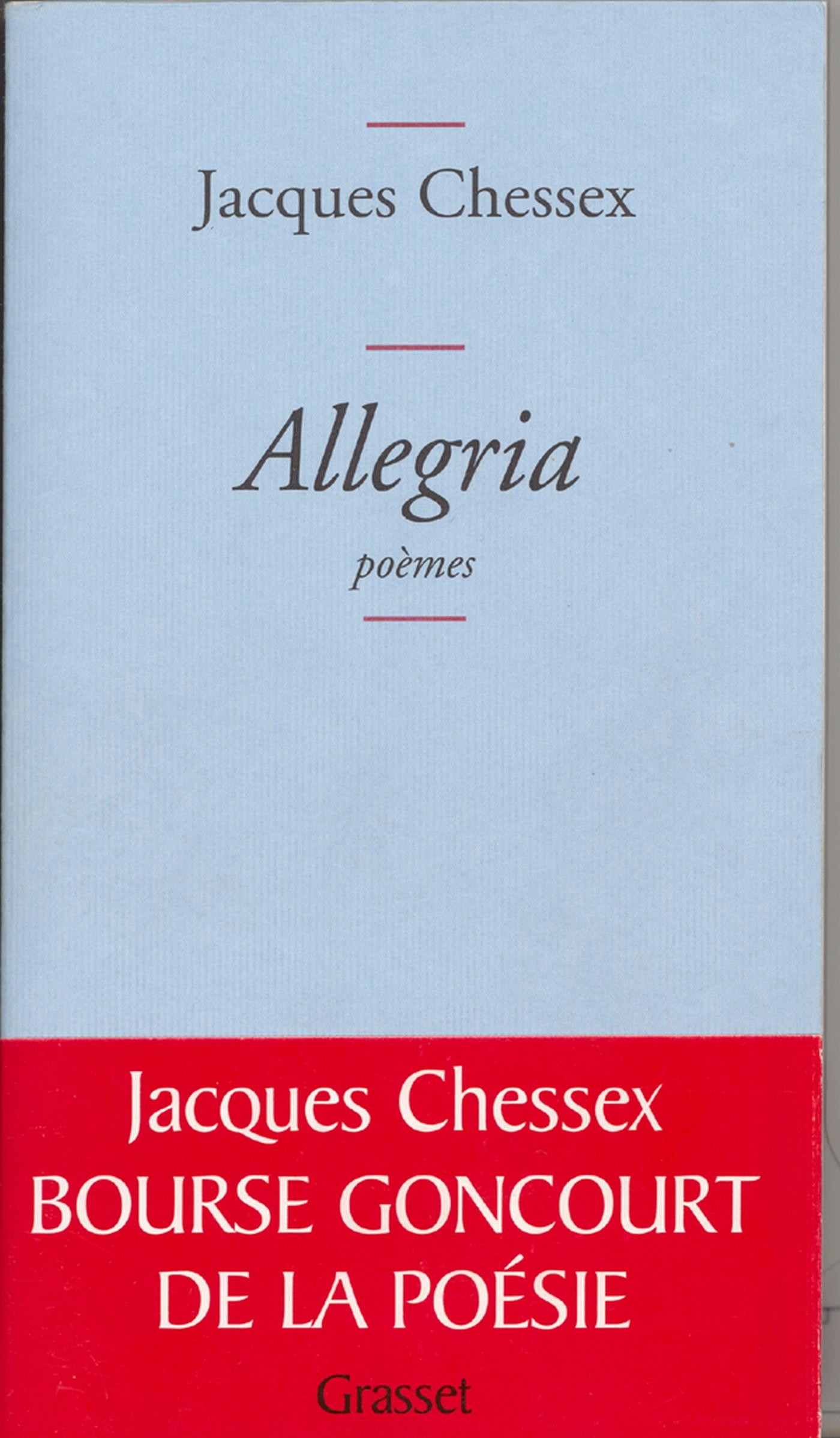 Allegria | Chessex, Jacques. Auteur