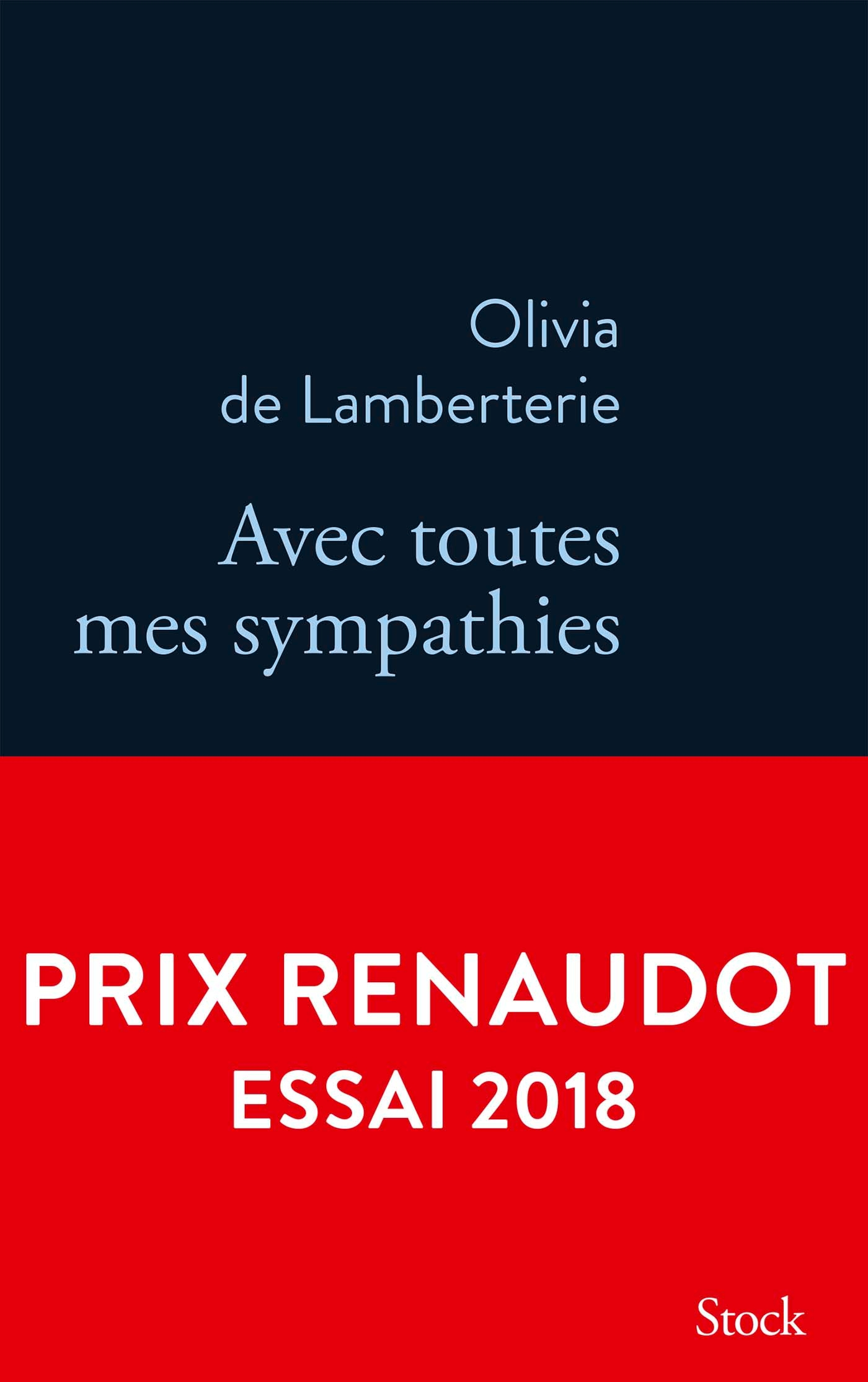 Avec toutes mes sympathies | de Lamberterie, Olivia. Auteur