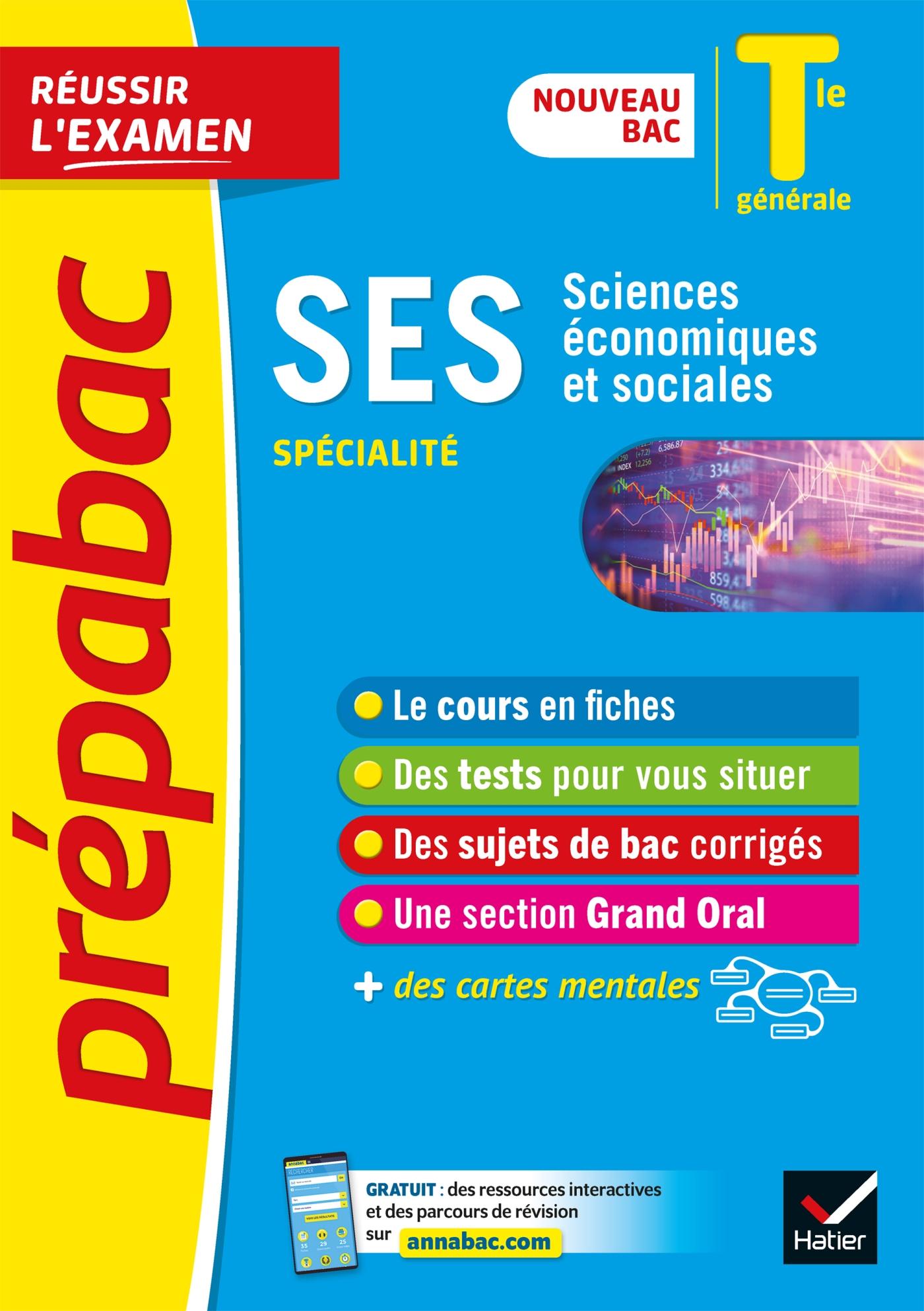 SES Tle générale (spécialité) - Prépabac Réussir l'examen Bac 2022 | Bachelerie-Marteau, Séverine. Auteur