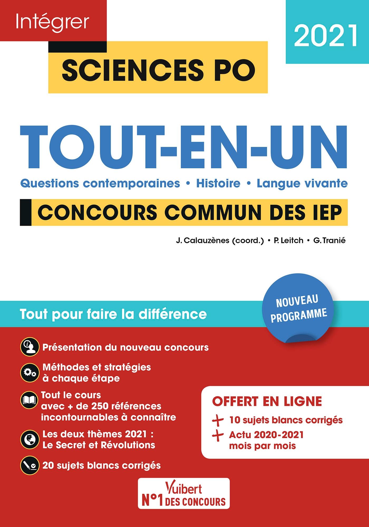 Concours Sciences Po - Tout-en-un | Calauzènes, Jérôme