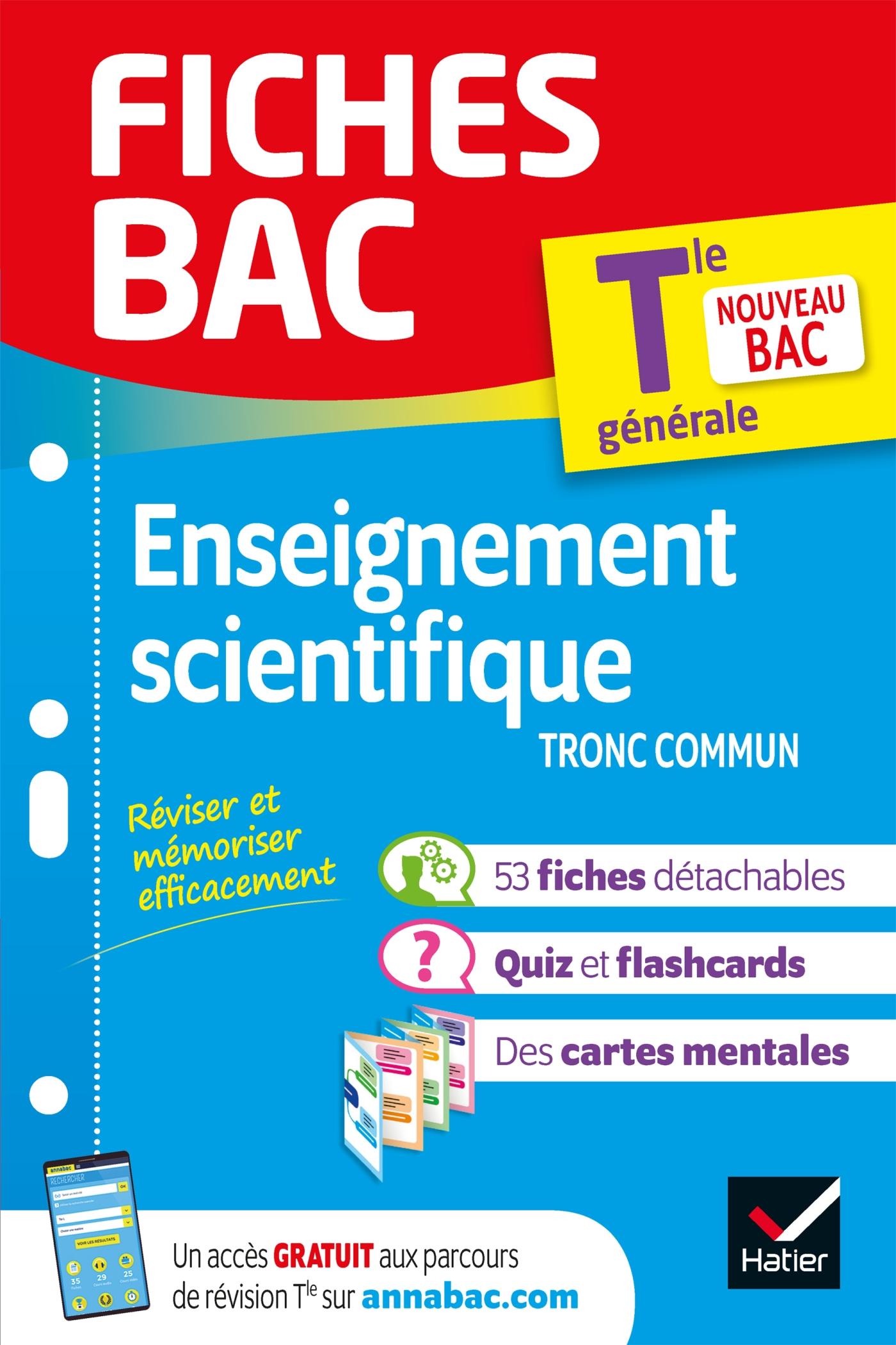 Fiches bac Enseignement scientifique Tle - Bac 2022 | Collectif, . Auteur